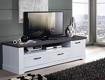 Expendio Tv Board Gaston 26 Weiss Grau 185x54cm Schneeeiche