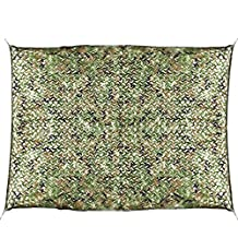Luwint Multifunction Woodland Camo Netting – Outdoor Military Camouflage Net for Hunting Camping Photography Decoration Sunshade (9.6ft x 6.4ft)