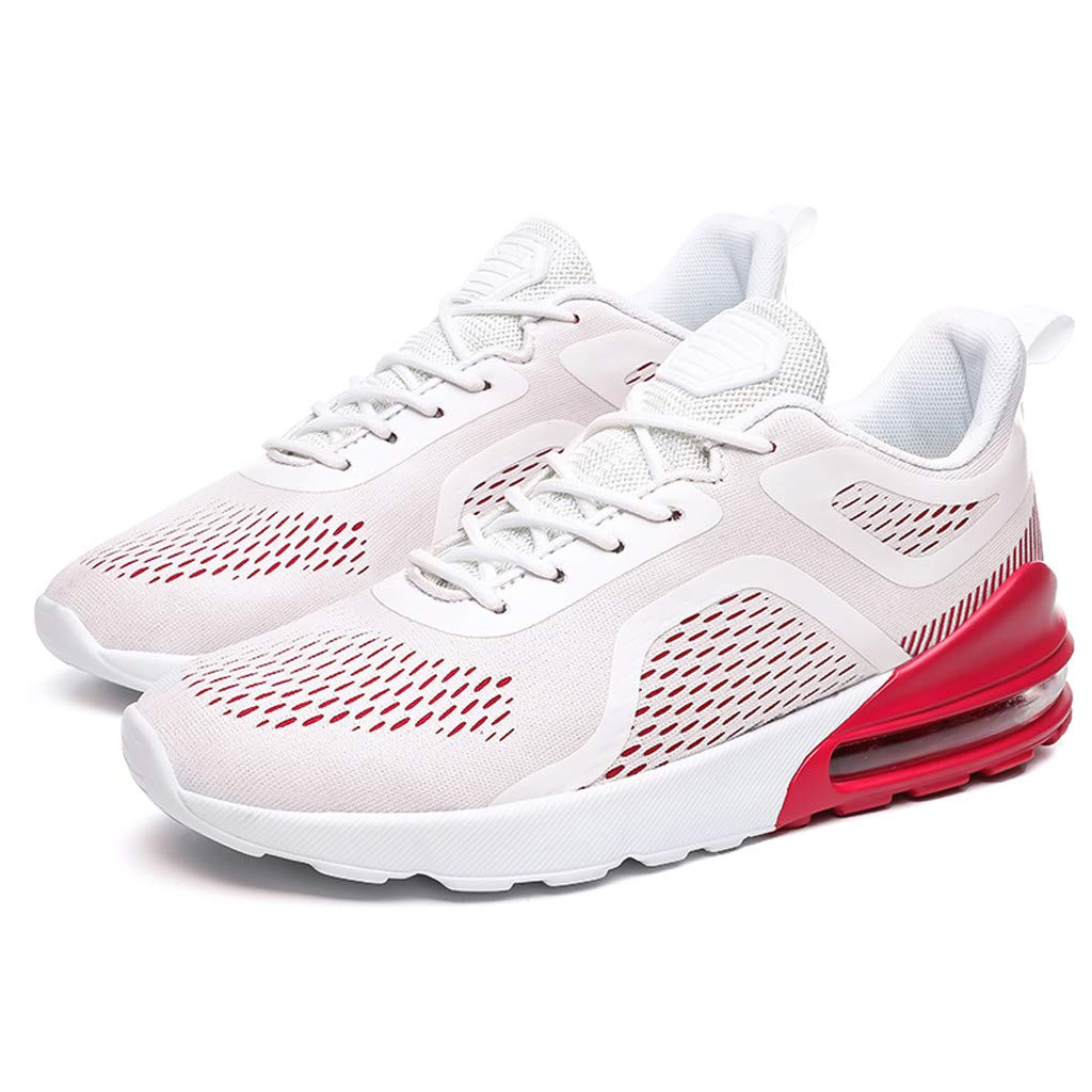 Air Cushion Running Sneakers for Men Casual Lace up Mesh Breathable Athletic Tennis Sport Shoes