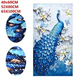 Adeeing 8D Diamond Painting by Number Kits, Full Rhinestone Embroidery Painting, Peacock