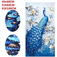 Aoile 5D Diamond Painting, Full Drill Peacock Embroidery Cross Stitch Painting Home Hotel Wall Decor