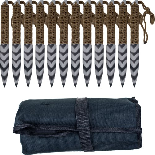 Whetstone Cutlery's Stripeger 12 set Kunai knives, Outdoor Stuffs