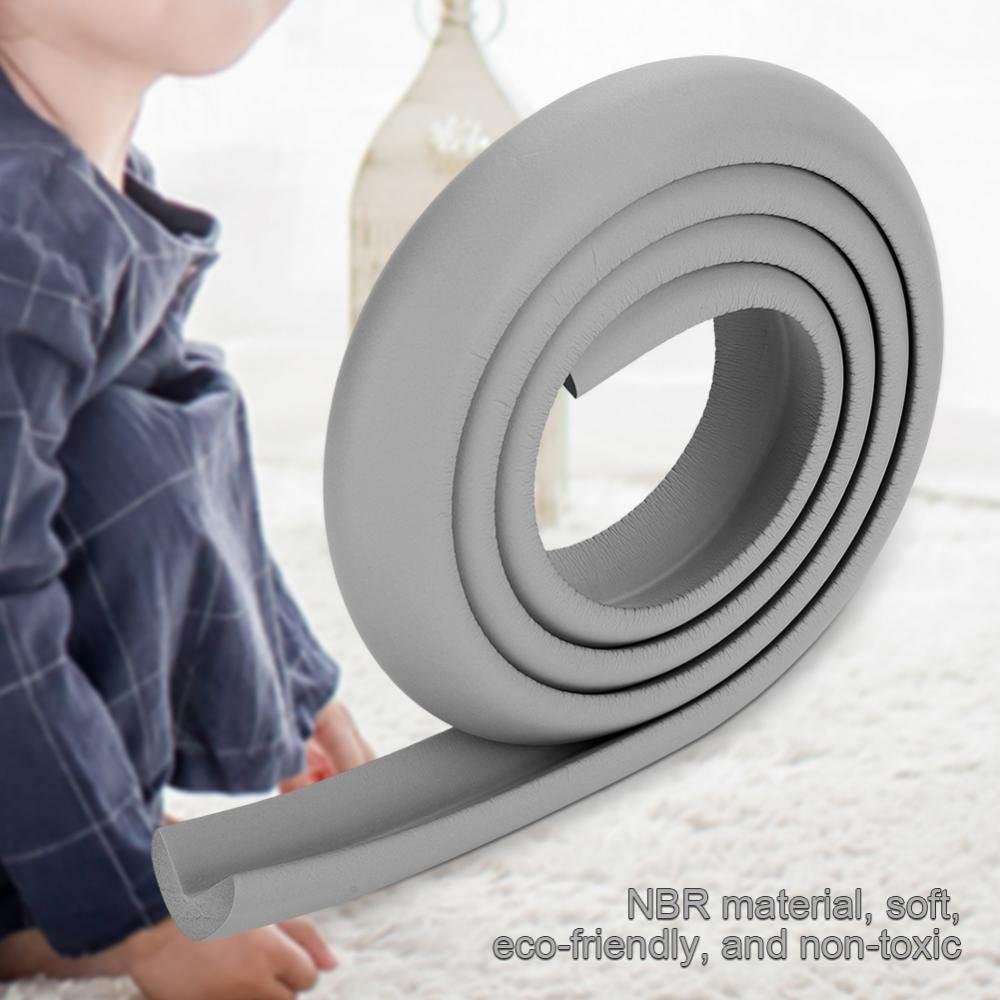 Table Protector Bumper 2M Kids Baby Safety Rubber Bumper Strip Table Edge Safe Corner Guard Proofing Corner Guards Soft Foam Corner Cushion Bumper for Furniture at Home /& Nursery Pink