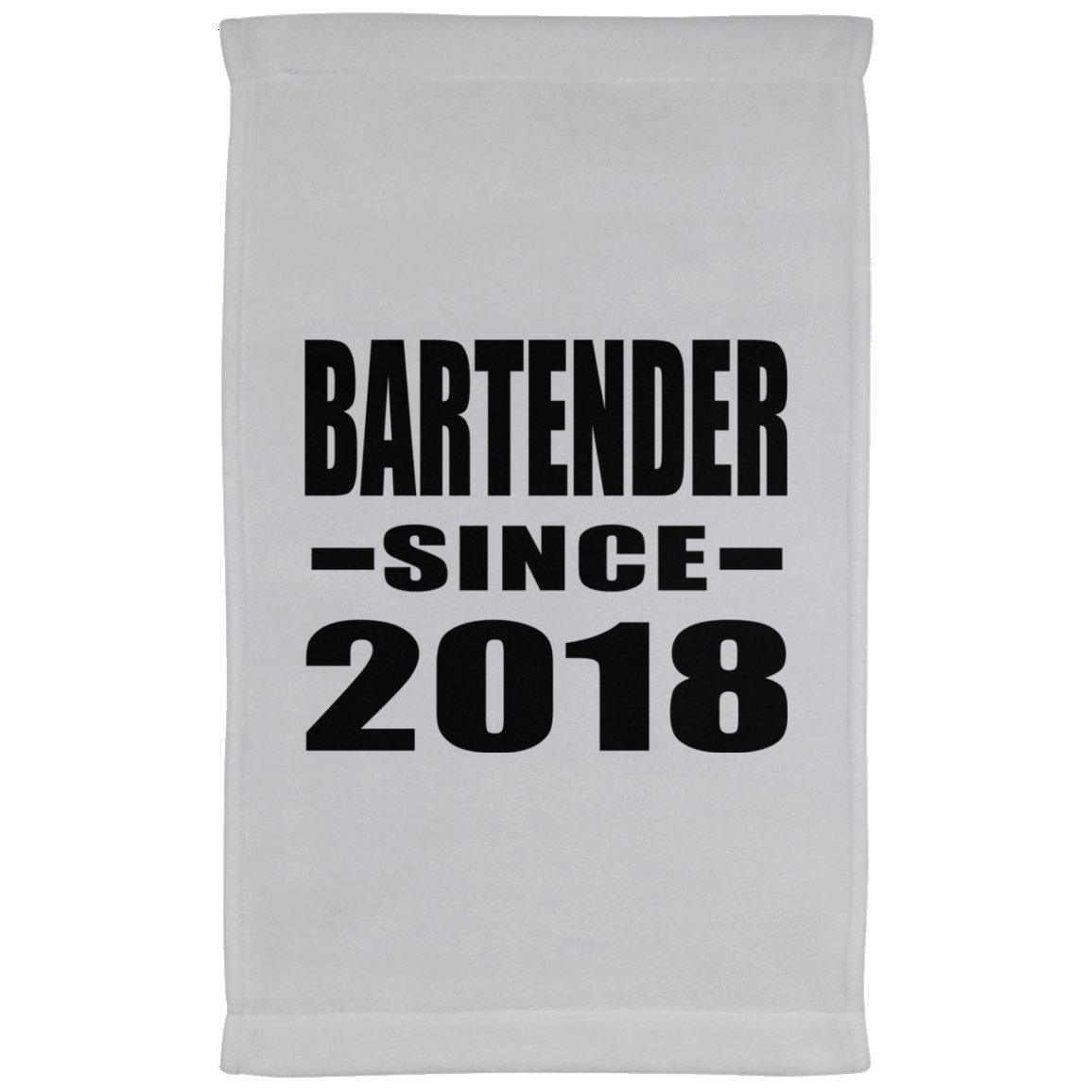 Designsify Bartender Since 2018 - Kitchen Towel, Microfiber Velour Towel, Best Gift for Birthday, Wedding Anniversary, New Year, Valentine's Day, Easter, Mother's/Father's Day