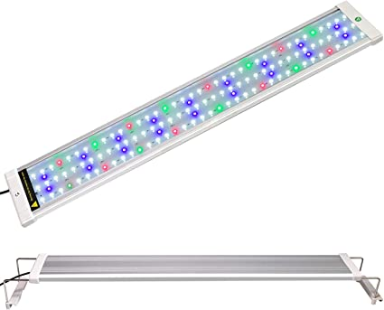 """28-36/"""" Saltwater Aquarium Light Dimmable RGBW LED Color Changing Remote Control"""