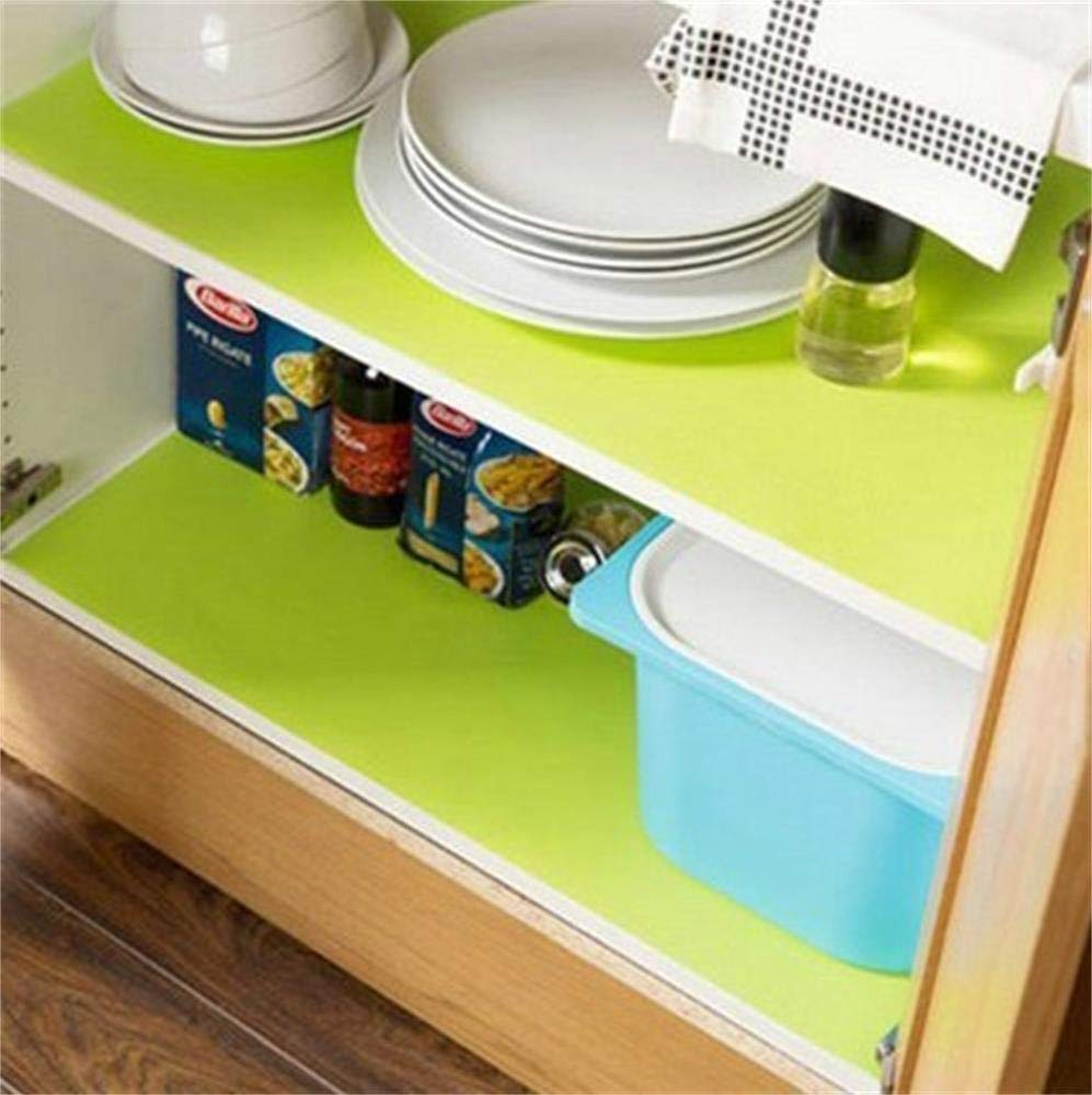 Bloss Plastic Shelf Liners Cabinet Drawer Liner Non-Slip Shelf Liner Non-Adhesive Refrigerator Mat Cupboard Pad Antibacterial Antifouling No Odorfor Kitchen Home-Clear 17.7 /×59 Inch SunnyLife-US