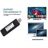 Velidy Adattatore Wi-Fi wireless USB TV,802.11 AC 2.4 GHz e 5 GHz Dual-Band di rete wireless USB adattatore WiFi per Samsung Smart TV WIS12ABGNX WIS09ABGN 300 m