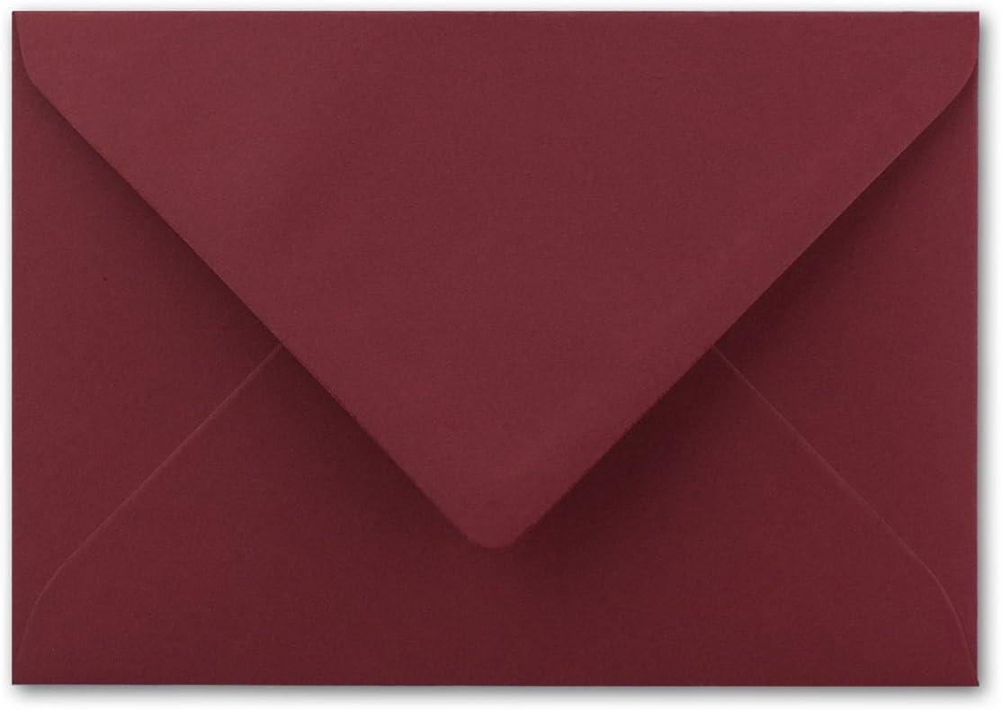 80 g//m/² Nassklebung Post-Umschl/äge ohne Fenster f/ür Einladungen 100 DIN B6 Briefumschl/äge Graphit-Grau 12,5 x 17,5 cm Serie Colours-4-you
