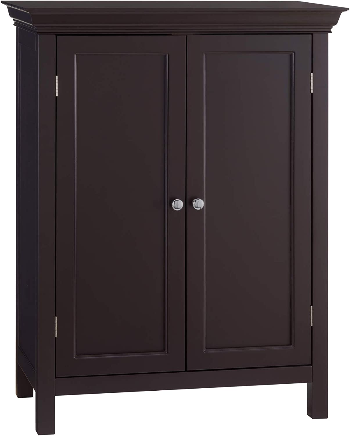 Elegant Home Fashion Stratford Freestanding Cabinet with 2 Doors-Espresso