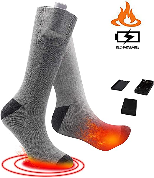 WINBST Calcetines térmicos Calcetines eléctricos de batería Recargable Calcetines Calcetines de algodón de Invierno Calentador de pies para Esquiar Camping Motociclismo: Amazon.es: Hogar