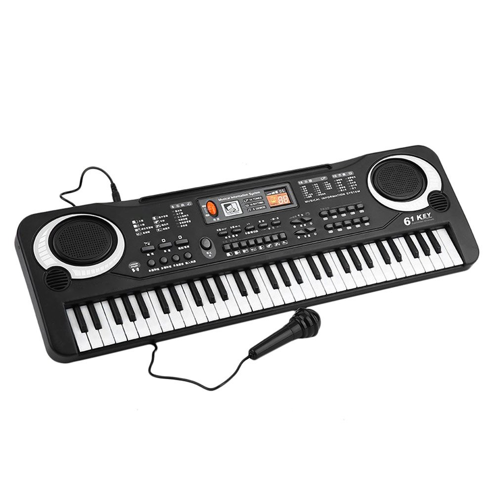 Tulas 61 Keys Electronic Music Keyboard Electric Organ with Microphone Children Early Educational Tool Tuals