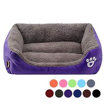 URIJK Cama de Perro, Mascota, Acolchado Suave con Cojín para Gato Perro Pequeño, Color Púrpura, Tamaño: 45cmx40cmx12cm: Amazon.es: Juguetes y juegos