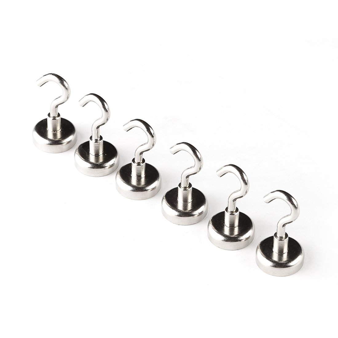JLER 25 Pound Tension Magnetic Hooks Powerful Neodymium Magnet Mount Hook as Keys holder towels or tools keeper Declutter Your Space 3 pack AX-AY-ABHI-121269