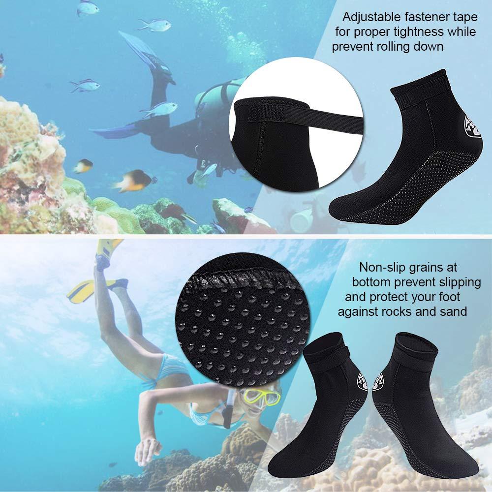 Lixada 3MM Calcetines de Neopreno para Buceo Zapatos con Agua Botines de Playa Snorkel para Hombres Mujeres