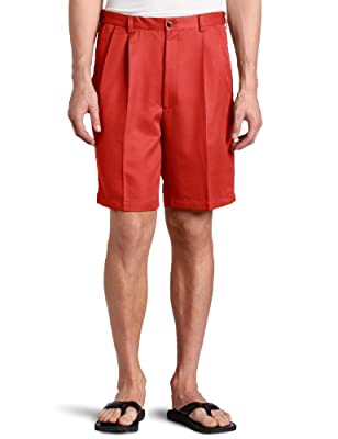 Haggar Men's Cool 18 Hidden Expandable Waist Pleat Front Short