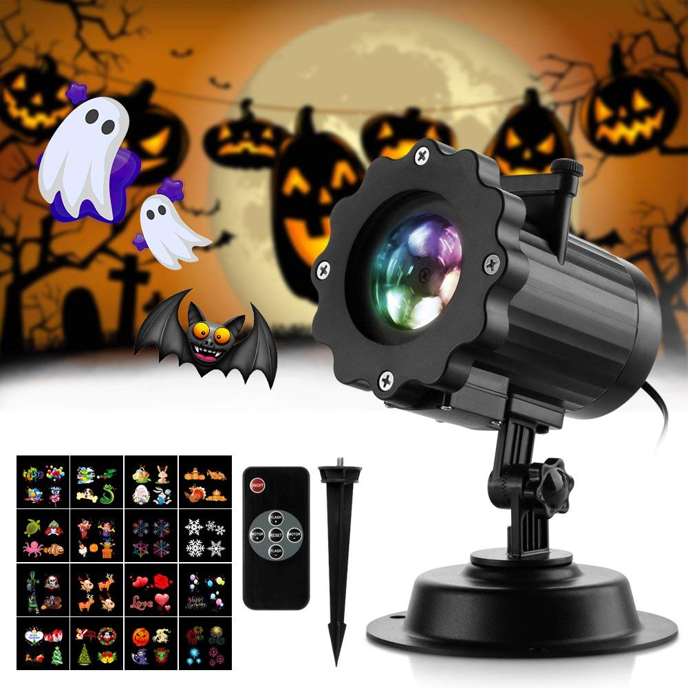 Halloween Projector Lights with 16 Slides, Zanflare Christmas Projector Lights Outdoor Waterproof RotatingRGB Remote Control Landscape Light forHalloween Xmas Party Wedding Holiday Home Garden 269499603