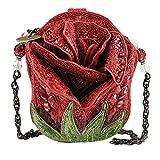 Mary Frances Rose Bud Red Flower Handbag New