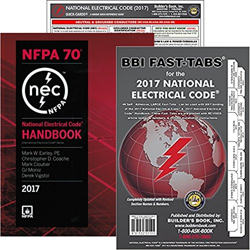 2018 Nec Handbook - NFPA 70 2017 Handbook : National Electrical Code (NEC) Handbook (Hardcover), Fast Tabs and NEC Quick Card, Set, 2017 Editions