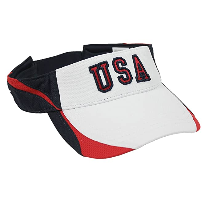 fc33f5f737bc Image Unavailable. Image not available for. Color  Patriotic White USA Visor