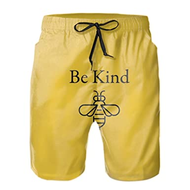 c2c664623b99 Amazon.com: Men's Yellow Stripes Swim Trunks Quick Dry Bathing Suits ...