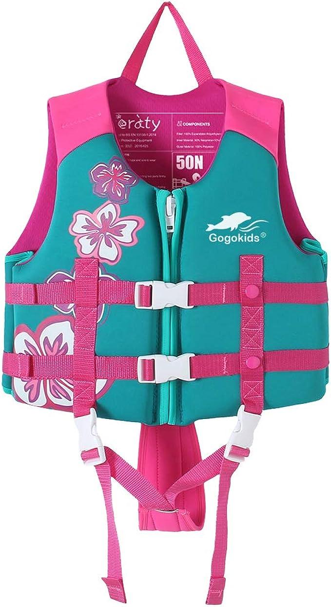 Jungen//Mädchen Kinder Schwimmweste Schwimmende Zip Life Jacket Schwimmhilfe Neu