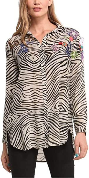 Desigual Mujer Camisa Xsmall: Amazon.es: Ropa y accesorios
