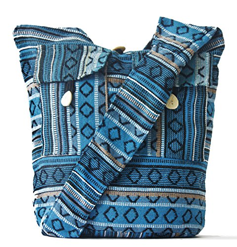 GYPSY XXI Handmade Crossbody Shoulder strap bags casual messenger Tote travel Handbags (Embroidered Shoulder Messenger Bag)