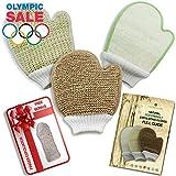 Exfoliating glove set of 3