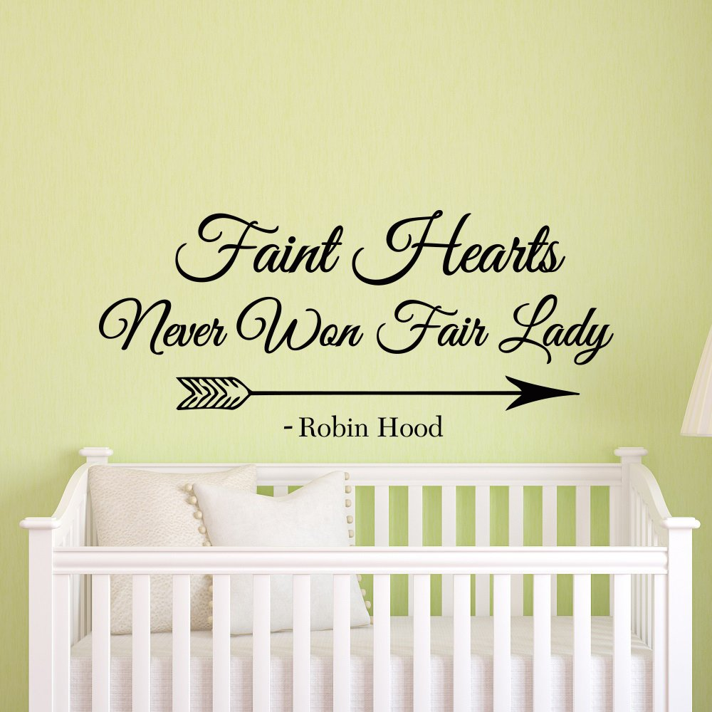 Amazon.com: Faint Hearts Never Won Fair Lady Robin Hood Wall Decal ...
