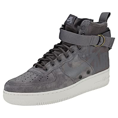 online store 26dd2 41e30 Nike Men's Sf Air Force 1 Mid Shoe Gymnastics Gunsmoke/Wolf Grey/Summit  White