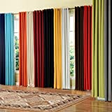 """PASSENGER PIGEON Modern Luxury Velvety Curtain Soft Fabric Rainbow Color Grommet Top 100% Thermal Blackout Extra Long White Window Treatment Curtains Panel Draperies 100"""" W x 108"""" L (One Panel)"""