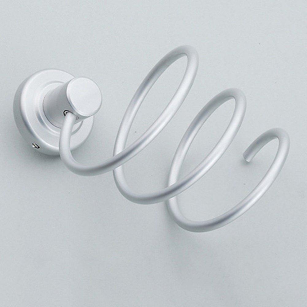 HJKGSVdv F/öhn Spiralhalter Aluminium St/änder Bad Gebl/äse Ablage Wandregal Badezimmer Dekor Silver