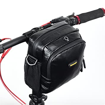 Pretty-jin Frontal de Bicicleta del Paquete Bolsa de Bicicleta Plegable Bolso Gran Capacidad Bicicleta
