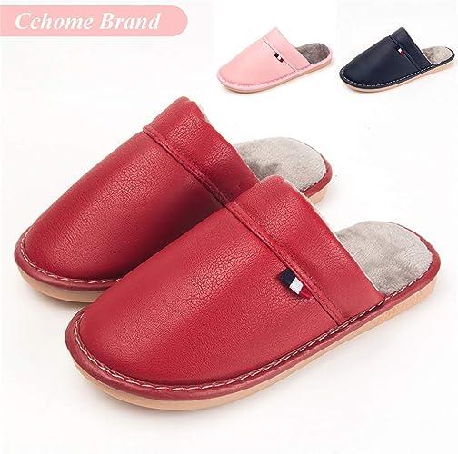 Zapatillas de Casa Mujer, CCHOME Zapatillas de Estar por Casa Impermeables de PU para Mujer Pantuflas Térmicos de Invierno: Amazon.es: Zapatos y complementos