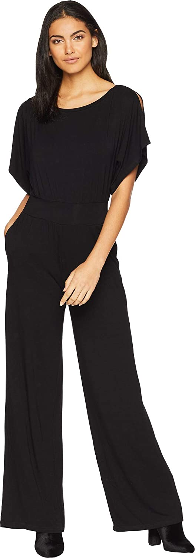 5a6f7b0932f6 Amazon.com  BB Dakota Women s Hottie Off Duty Rayon Spandex Jumpsuit Black  X-Small  Clothing