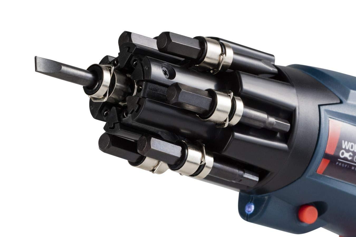 1500mAh Li-ion rallonge et boitier Poign/ée rotative a 90/° porte-embouts monter et assembler recharge rapide d1 heure 27 Bits Pour visser WOLFGANG Visseuse sans fil LED 3,6 V