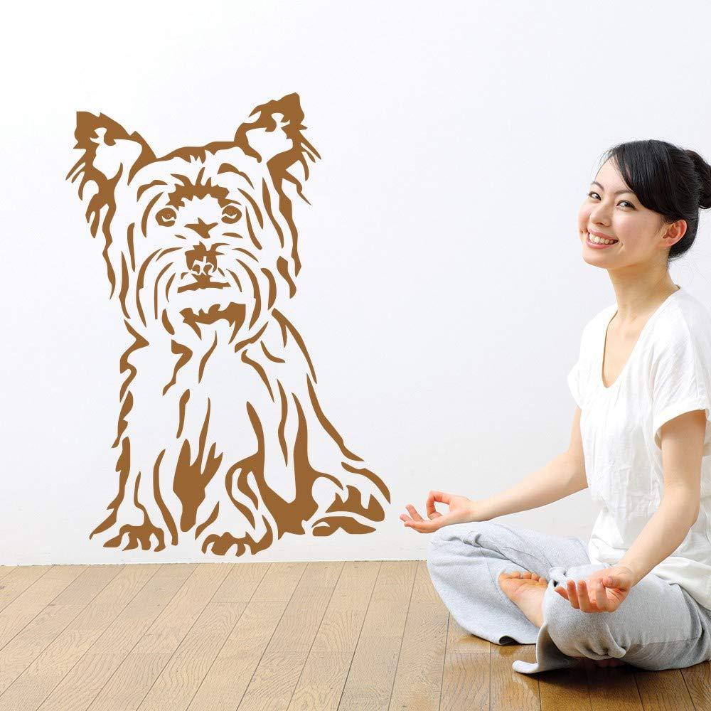 Ajcwhml Lindo Perro Mascota Sentado Pegatinas de Pared Yorkshire ...