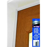 Bryseal white brush around door seal draught excluder weather proofing by Stormguard. Size 4 ×1028 mm and 1 x 914 mm.