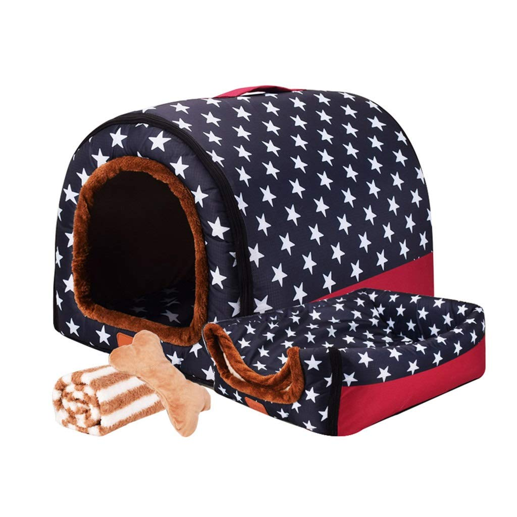 B XXXL B XXXL Jlxl Pet Bed Fashion Medium And Large Dog Bed Indoor Star Stripe Washable Kennel Four Seasons Universal Suitable For All Dogs (color   B, Size   XXXL)