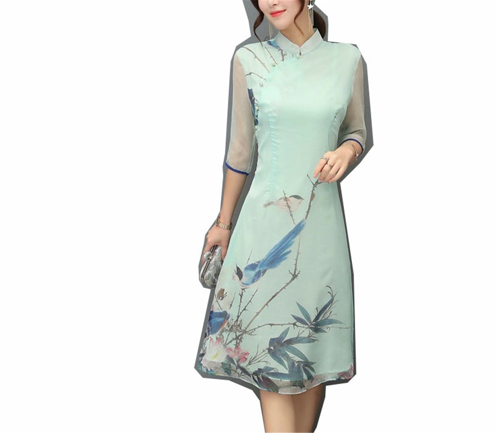 Coac3 Chinese Cheongsam Dresses Elegant Women Modified Modern Qipao Dress Chinese Traditional Dress