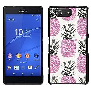 // PHONE CASE GIFT // Duro Estuche protector PC Cáscara Plástico Carcasa Funda Hard Protective Case for Sony Xperia Z3 Compact / Pink 420 Weed Cannabis Fruit /