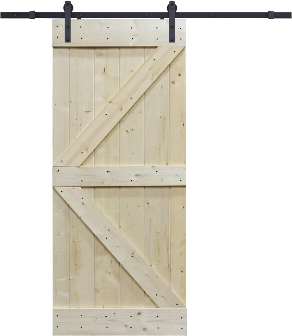 6 m, Frosted Negro Puerta Corredera hardware set con placa de pino madera maciza sin interior puerta de granero: Amazon.es: Bricolaje y herramientas