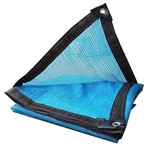 DWSD10 Blauer Sonnenschutznetz-Sonnenschutzverschlüsselungsbalkon Verdickte Fleischgarten-Blaumen-Dachschattierungsnetz-Netzisolierung Verschiedene Größen