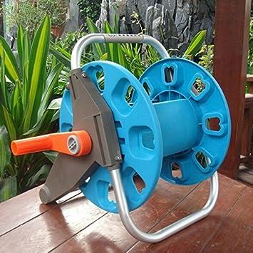 Amazon.com : Garden Water Hose Reel Cart Pipe Rack Portable Garden Hose Car BML Brand // Jardín manguera de agua carrete carrito tubería estante jardín ...