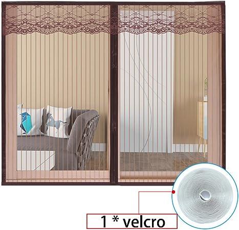 DSAQAO Puerta de Pantalla magnética, Marco Completo Velcro Superhermetic Valla, Dormitorio Cocina Ventana Cortina de Malla Arena Pantalla-A 140x150cm(55x59inch): Amazon.es: Hogar