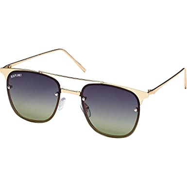 783e0f9881d Blue Planet Eyewear Crawford Polarized Sunglasses Gold Dark Grey-Green  Polarized