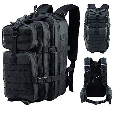 1b9d4ca8cfbe Amazon.com: Ecurson Adjustable Backpack with Waist Strap Large 3 Day ...