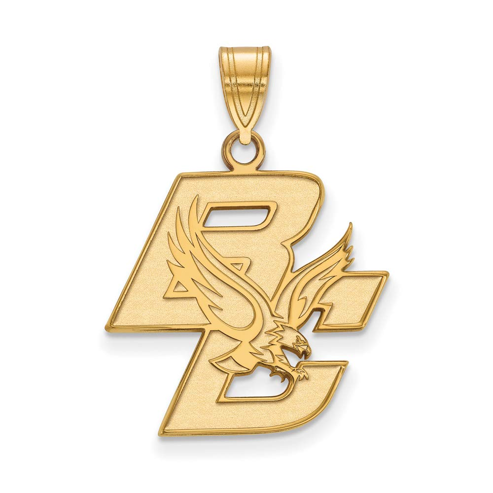 Boston College Large (3/4 Inch) Pendant (10k Yellow Gold)