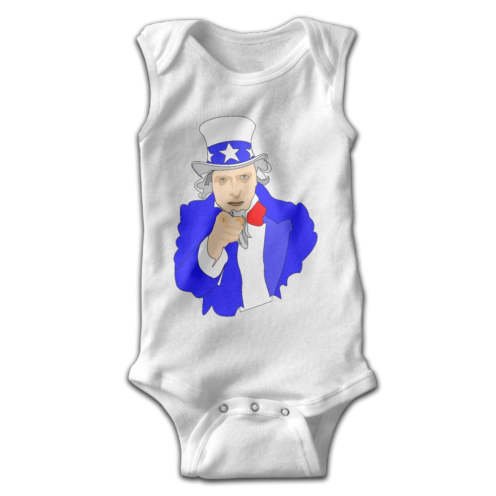 Baby Baby Boy Girl Uncle Sam is Want U Print Romper ...