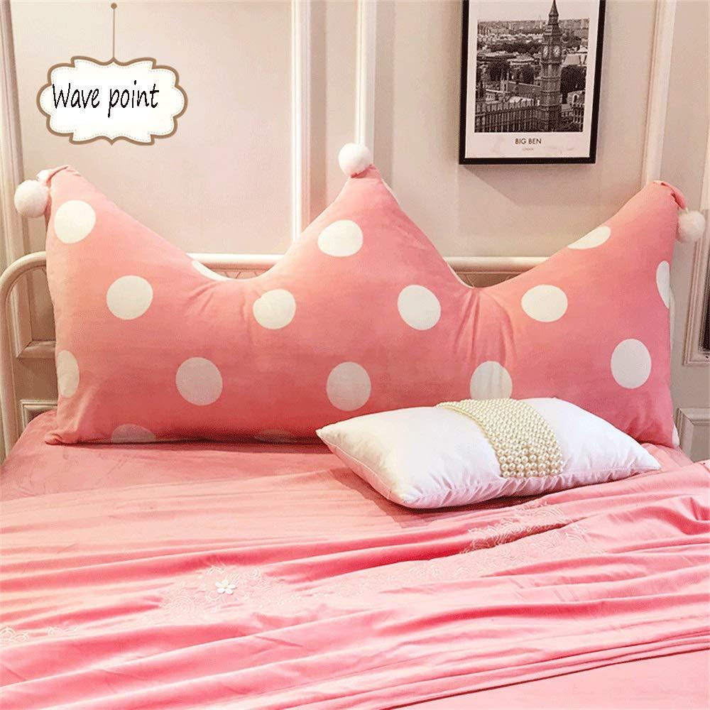 Unbekannt JXQ Baby Samt Schlafzimmer Bett Kopf Rückenlehne multifunktions Kinderzimmer Kissen Net Red Sofakissen Abnehmbar Und Waschbar, 3 Größen & 8 Farben (Color : A, Size : 150X22X60cm)